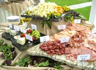 wedding reception appetizer buffet ideas for a crowd