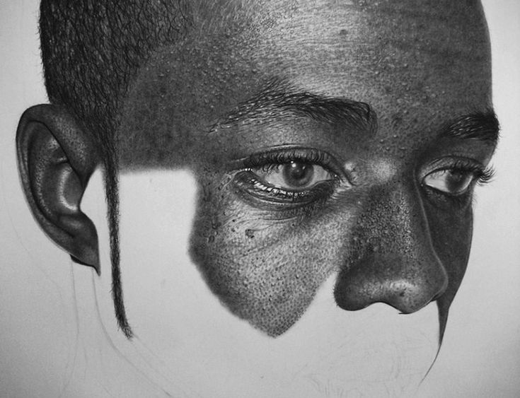 Uk based artist kelvin okafor has created these incredible hyperrealistic pencil drawings the finished pieces are just outstanding but it is so interesti