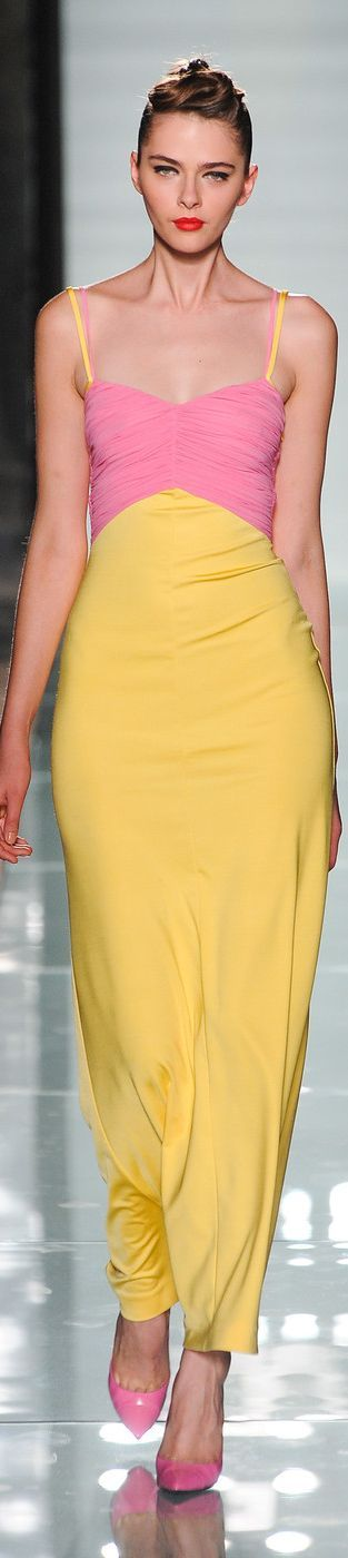 fashionable yellow & pink .. X ღɱɧღ ||Roccobarocco - Milan Spring 2014 | The House of Beccaria#