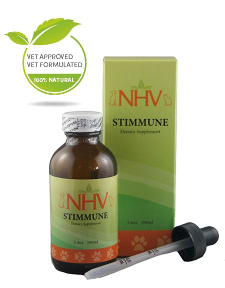 NHV Stimmune helps dogs and cats showing symptoms of allergies like runny nose, itchy face, sneezing and watery eyes. It encourages healthy response to seasonal allergies.