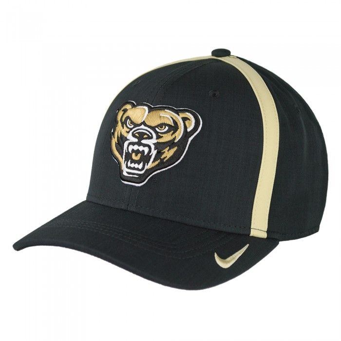 74d5b46356d Oakland University Nike Dri Fit Sideline Aerobill Swoosh Flex Hat At Campus  Den