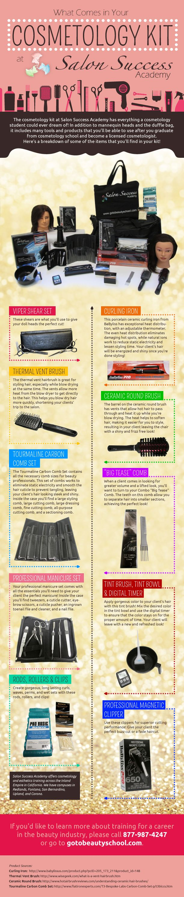 Infographic: Your cosmetology kit at Salon Success Academy!