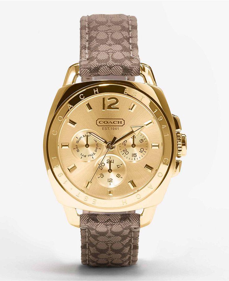 COACH BOYFRIEND STRAP WATCH - Women's Watches - Jewelry & Watches - Macy's