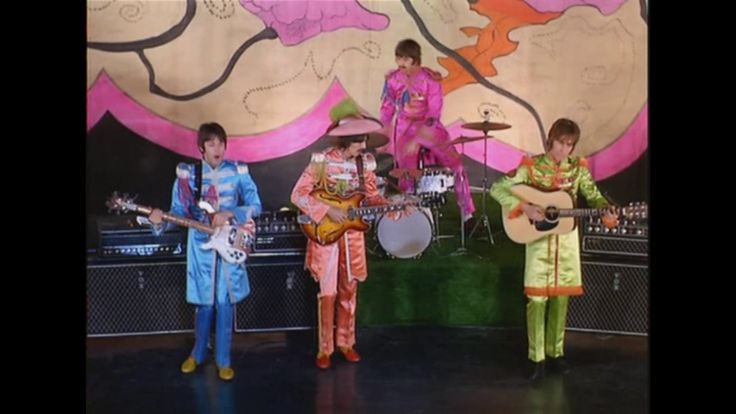 The Beatles-Hello Goodbye Friday 10 November 1967-The Beatles filmed promotional footage for their forthcoming single Hello, Goodbye at London's Saville Theatre on this day.