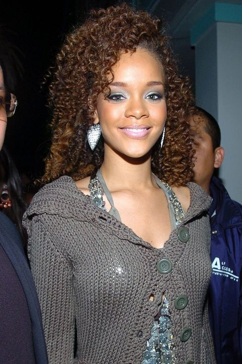 MIAMI BEACH, FL - MARCH 26: Rihanna poses at the WMC International Dance Music Awards at the Wyndham Hotel on March 26, 2006 in Miami Beach, Florida. (Photo by Gustavo Caballero/Getty Images)