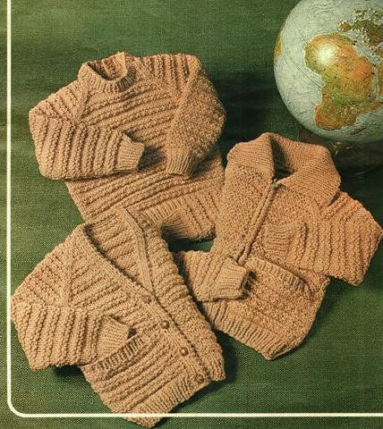 Childrens Knitting Pattern, Jacket, Jumper, and Cardigan ...