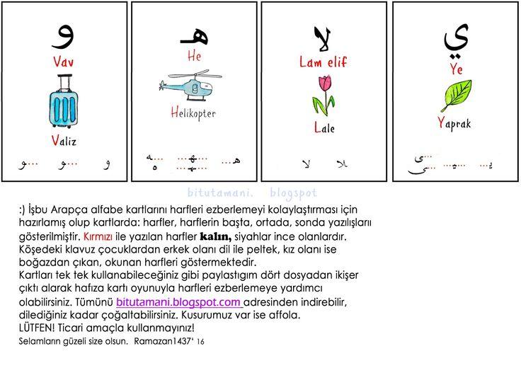 bitutamanı: Namaz çetelesi / alfabe kartları