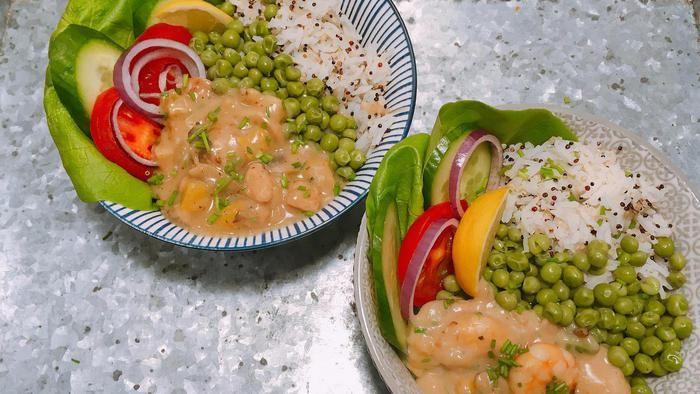 Wat zullen we eens eten vanavond? Iedere dag in de Volkskrant een verrassend recept. Vanavond: ragout met rijst en doperwtjes (hoofdgerecht voor 4 per
