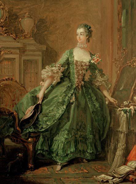 madame de pompadour | Madame de Pompadour at her dressing table,1750 by Francois Boucher