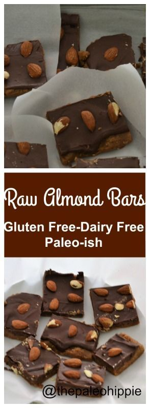 Raw Almond Bars Gluten, Dairy & Soy Free