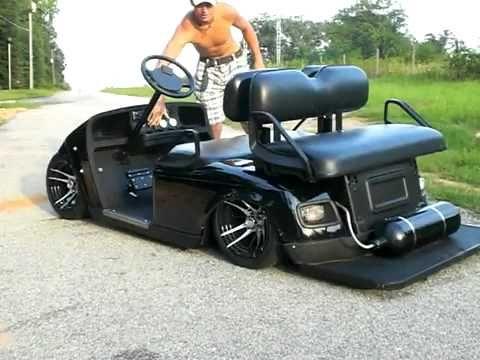 YouTube   air bagged golf cart