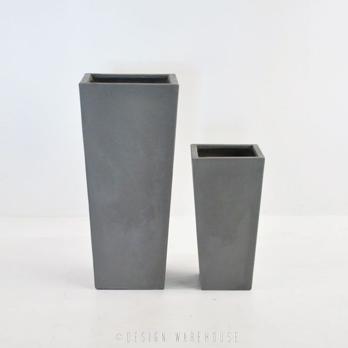 Raw Concrete Planter (Tapered) - Planters and Pots - Accessories