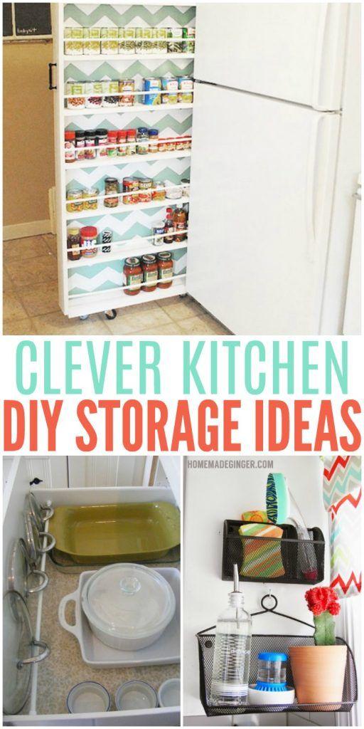 Clever DIY Storage Ideas For The Kitchen DIY Storage