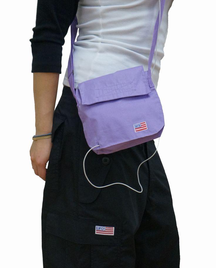 UFO Velcro Closure Mini Bag in Wind Fabric #80993