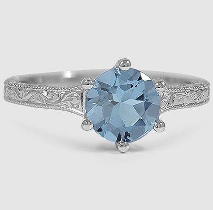 blue aquamarine + white gold