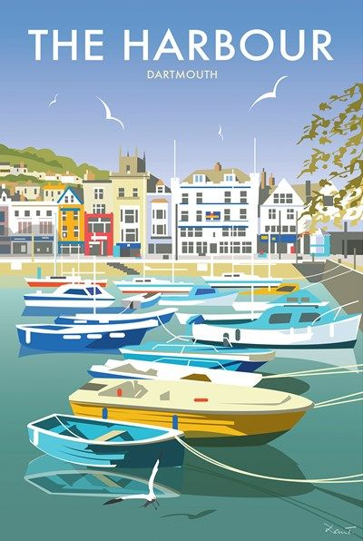 Harbour Dartmouth Print at Whistlefish - handpicked contemporary &…
