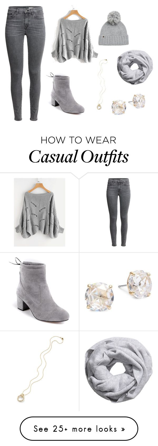 """""""grays"""" by addisoncassel on Polyvore featuring UGG and Kate Spade"""
