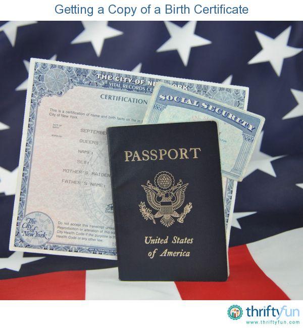 Getting A Copy Of A Birth Certificate