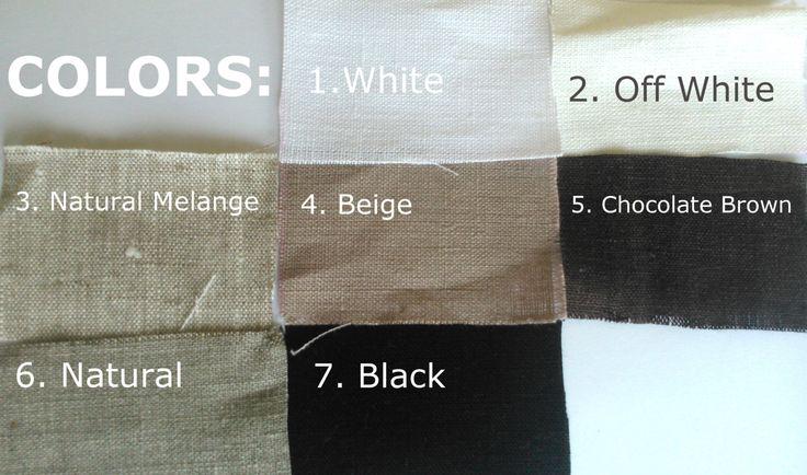 Campioni di tessuto di lino naturali.  Quando si acquista 1 set, otterrete i piccoli campioni di tutti i 7 colori (ogni circa 2 x 3 pollici)  Il tessuto è ammorbidito e pre-lavato. È tessuto lino lino naturale 100% puro. È piacevole al tatto. Non piu  ristretto. Peso medio, 185gr/m2, Ottimo per naturale biancheria Home Decor, lenzuola di lino, lino tende, biancheria da tavola e molti altri... Eco-friendly  Siete pregati di notare che la spedizione in Stati Uniti / CANADA / AUSTRALIA ecc…