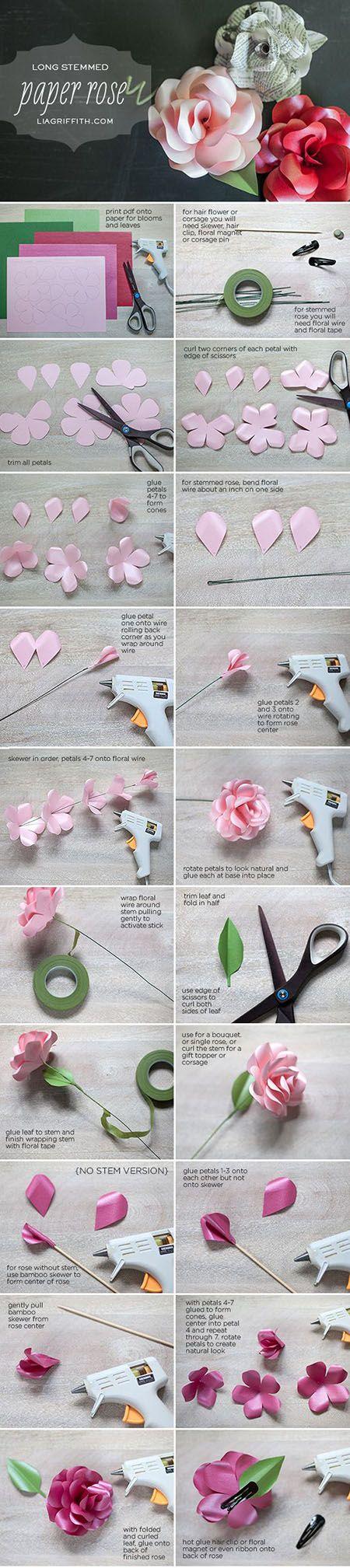 16  DIY Paper Rosec9aa5d   DIY