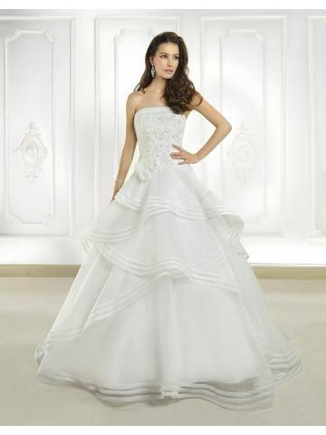 Bez ramínek Bez rukávů Zip Svatební šaty 2015
