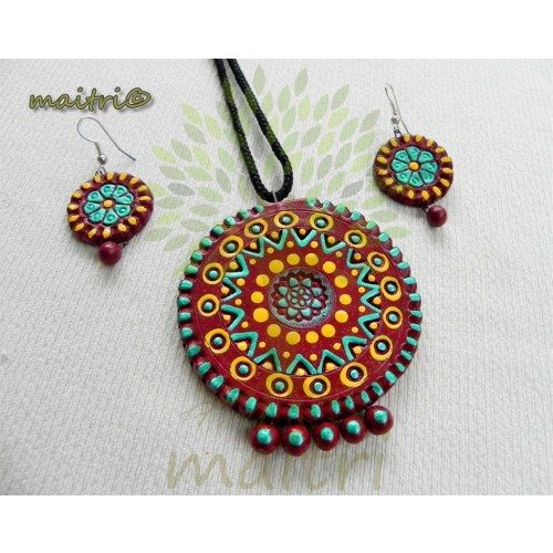 Online Shopping for Terracotta Jewellery  - Designer Co | Necklaces | Unique Indian Products by Maitri Crafts - MMAIT98884198310