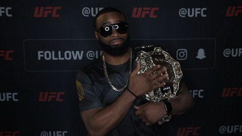 New party member! Tags: ufc mma champion nodding yup ufc 209 ufc209 belt champ woodley number one tyron woodley number 1 #1 the chosen one championship belt my belt