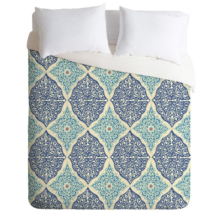 Belle13 Curly Rhombus Duvet Cover | DENY Designs Home Accessories