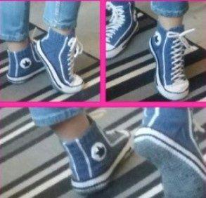 вязаные носки кеды тапки