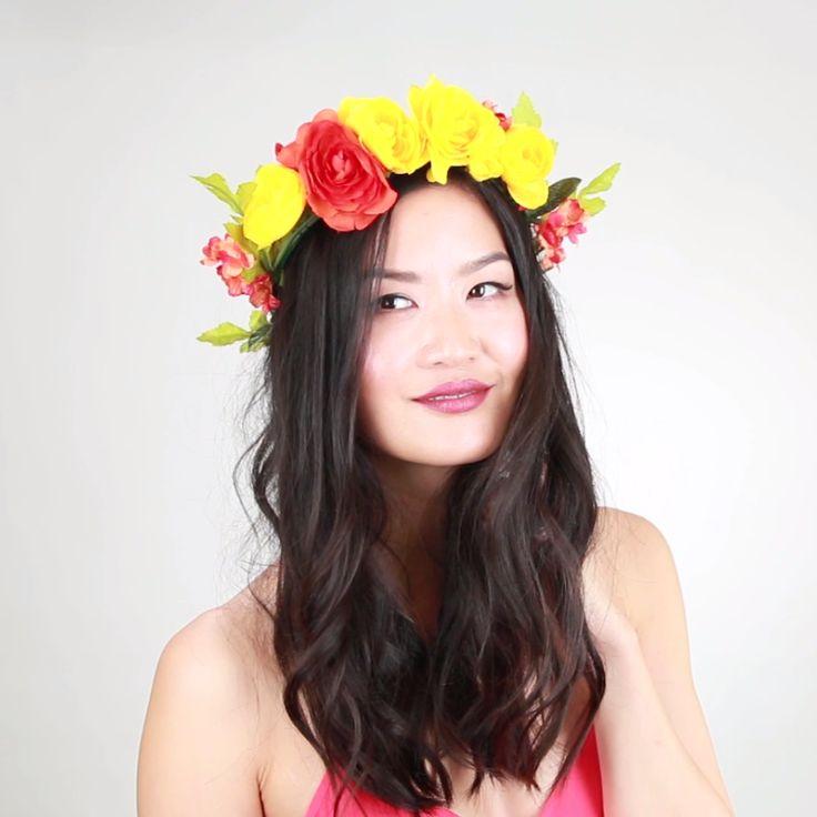 17 Best Ideas About Black Flower Crown On Pinterest