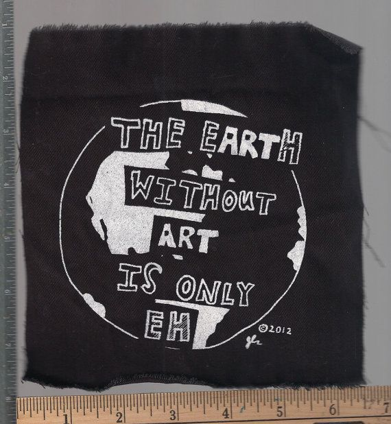 Art earth humor punk patch by breatheresist on Etsy, $2.00