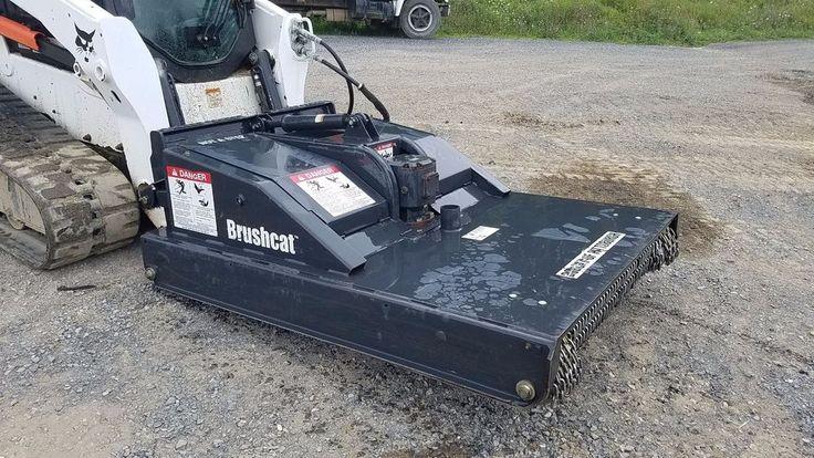 "Bobcat Brushcat 60"" Rotary Mower Bush Hog Compact Tracked Skid Loader Attachment #Bobcat"