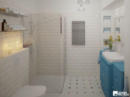 Łazienka w stylu folk/ retro