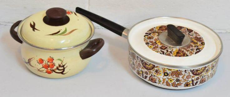 Enamel enamel everywhere. Pots, pans, plant pots, casseroles