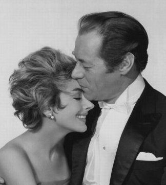 Kay Kendall and her husband Rex Harrison
