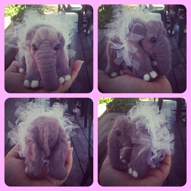 Needle Felted Elephant - Jen Hoddinott