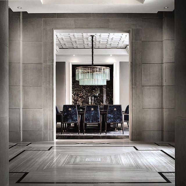travertine floor pattern   entrance hall   Ferris Rafauli