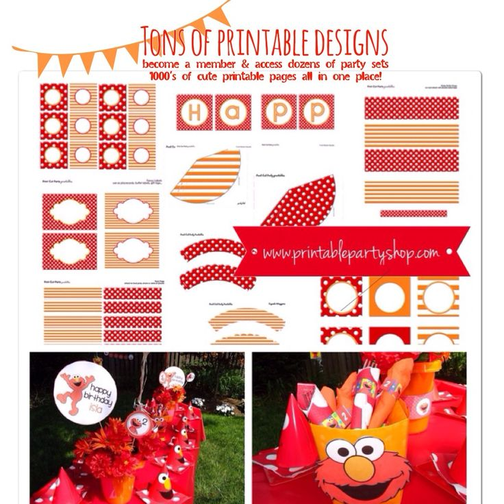 25 best elmo party ideas images by frosted blog on pinterest printable party shop elmo kids party become a member solutioingenieria Image collections