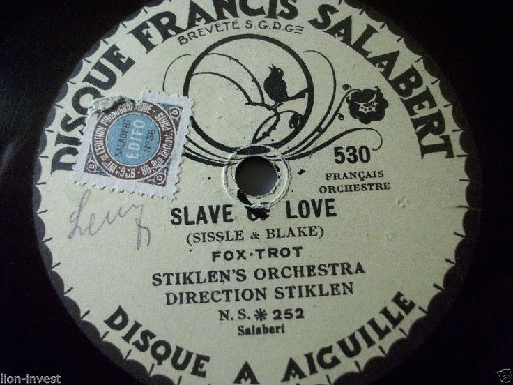":-) Nice Stiklen´s Orchestra Rec. :-)  First and Big Auction 78rpm in 2017 Come in & find out :-)  !!! Startprice only 1,99 Euro !!! Worldwide shipping !!!  STRIKLEN'S ORCHESTRA ""Slave Of You / Rose Marie"" Salabert 78rpm 10"" Fox"