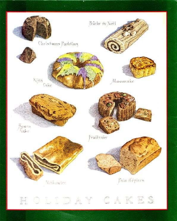 Cook's Illustrated back cover art: breads and cakes