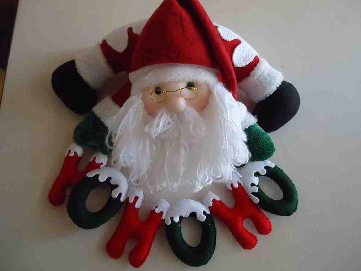 Molde: Santa Claus ho ho ho | EcoArtesanias