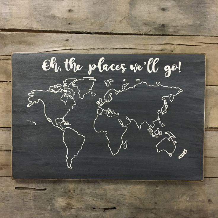 wood world map wood map chalkboard style map oh the places well go travel map pin map rustic map adventure map personalized