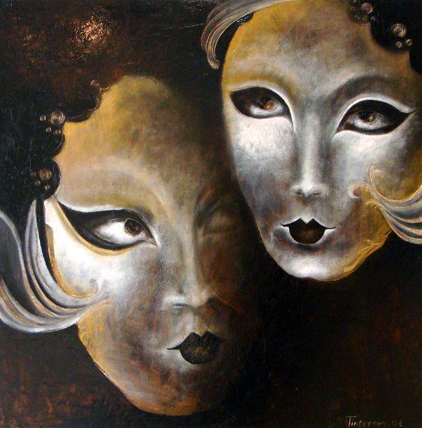 "Tinterova oil painting ""A taste of Venice"""