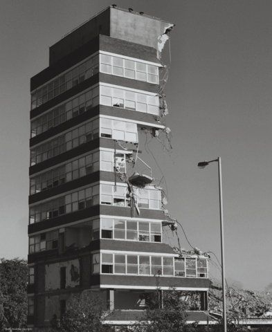 Beautiful photo of a demolished building... #history #demolition #photograph