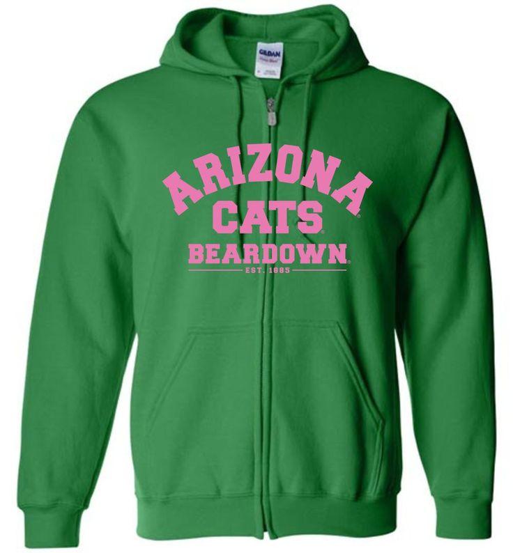NCAA University of Arizona Wildcats U of A - Cats Bear Down Est 1885 - Zip Hoodie - UOFA1221-c