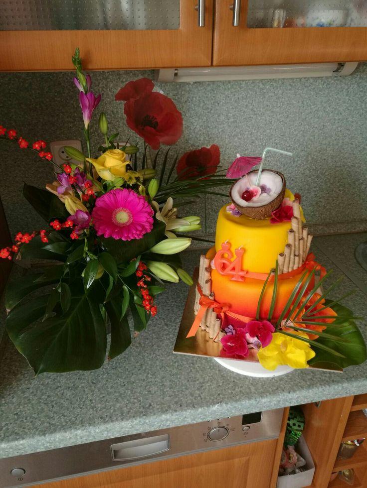 exotic flower cake 2
