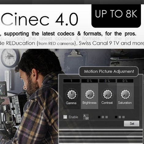 Cinemartin's Cinec 4.0 Supports Super Hi-Vision 8K, H.265 8K 10Bit Encoding and VP9