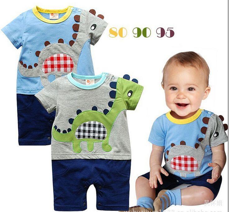 New Fashion Summer Boy Baby Kid Toddler Infant Dinosaur Cartoon Romper Jumpsuit  #Unbranded #Everyday