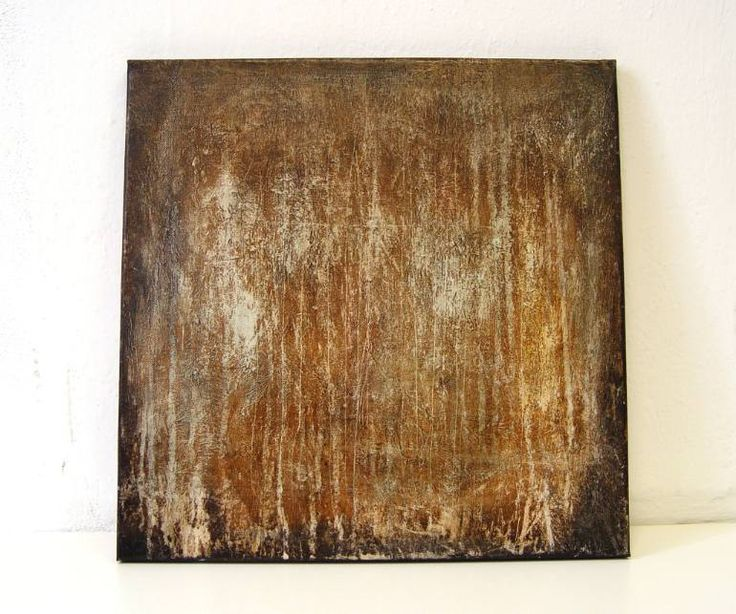 Buy TH481, a Acrylic on Canvas by Radek Smach from Czech Republic. It portrays: Abstract, relevant to: texture, brown, contemporary, abstract, minimal Original abstract painting on canvas.  Ready to hang. No framing required (it can be framed).  The sides of the painting are painted.  Signed on the back