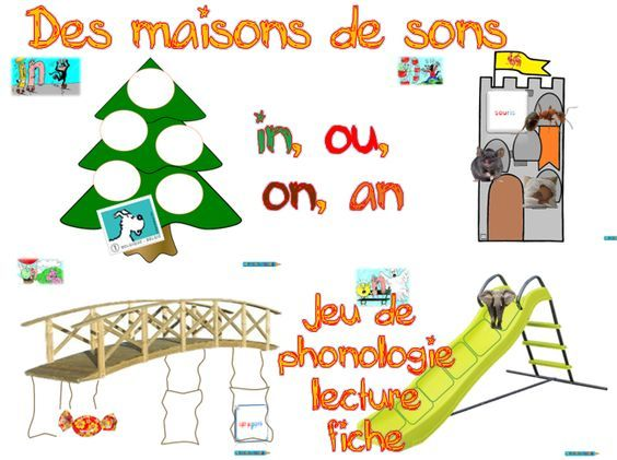 French sounds sorting activity: les maisons de sons